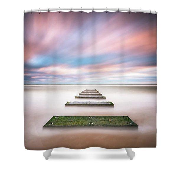 Outer Banks North Carolina Seascape Nags Head Nc Shower Curtain