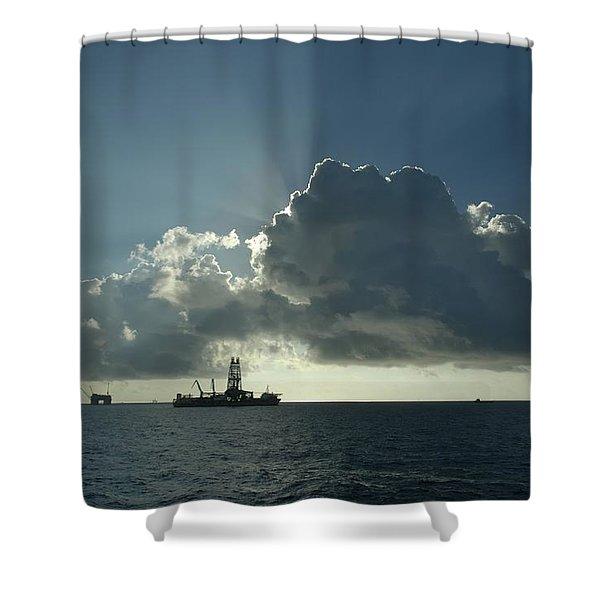 Outer Continental Shelf Oilfield  Shower Curtain