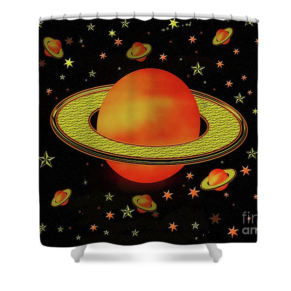 Outer Harvest Moons Shower Curtain