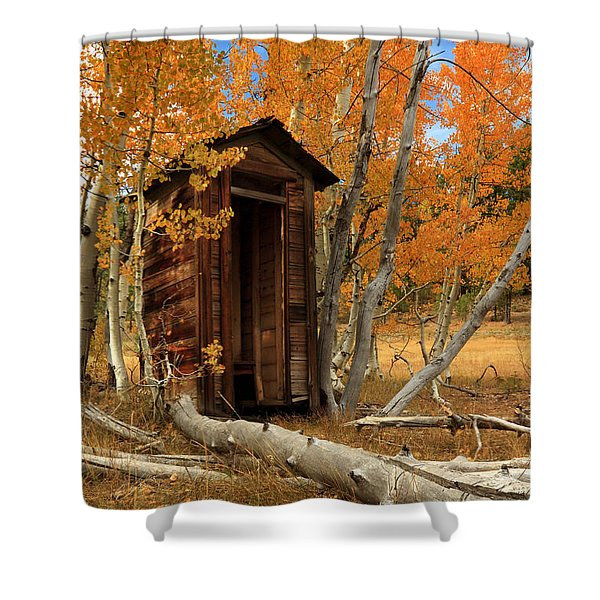 Outhouse In The Aspens Shower Curtain