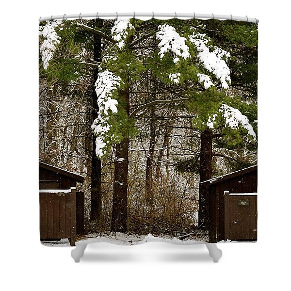 Outhouses In The Cold Shower Curtain