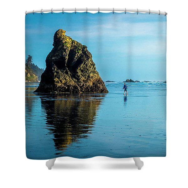 Outing In Ruby Beach,wa Shower Curtain