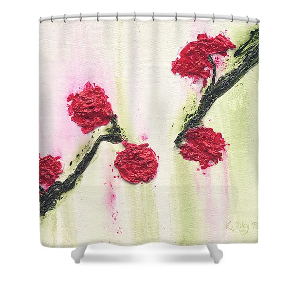 Shower Curtain featuring the painting S R R Seeks Same by Kathryn Riley Parker