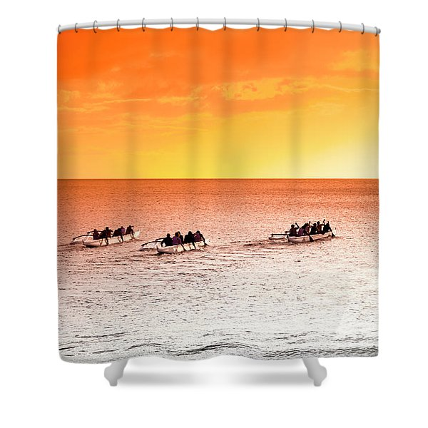 Outrigger Pastels Shower Curtain