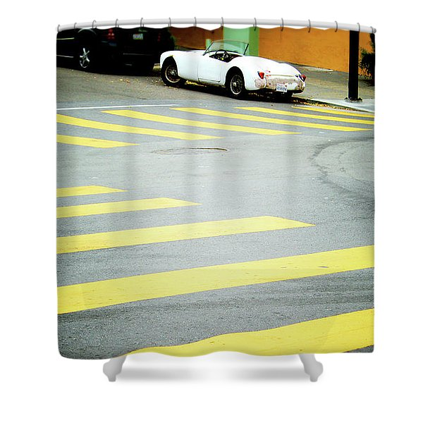 Outside The Lines- By Linda Woods Shower Curtain