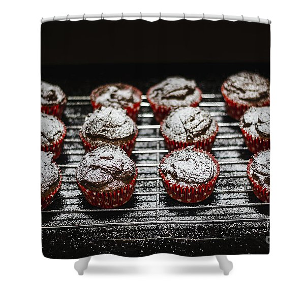 Oven Fresh Cupcakes Shower Curtain