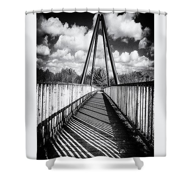 Shower Curtain featuring the photograph Over And Under by Nick Bywater