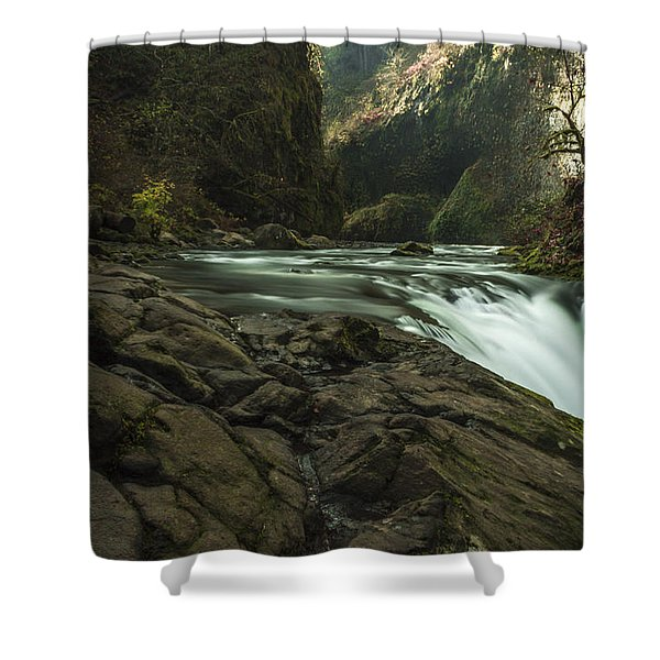 Over The Edge Signed Shower Curtain