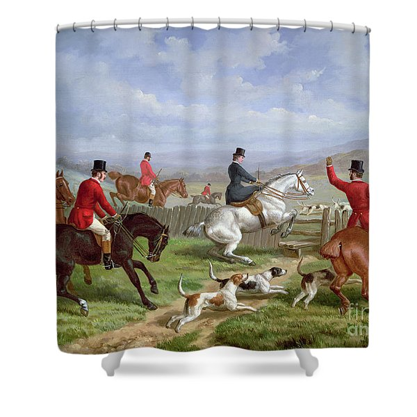 Over The Fence Shower Curtain