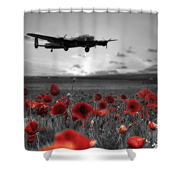 Over The Fields -  Selective Shower Curtain