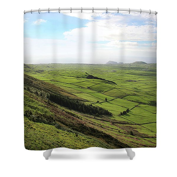 Over The Rim On Terceira Island, The Azores Shower Curtain