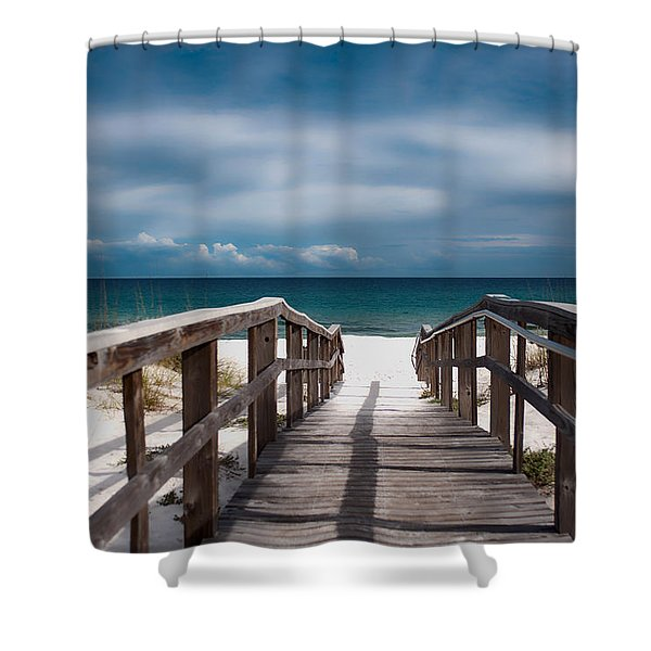 Over The Sand Shower Curtain