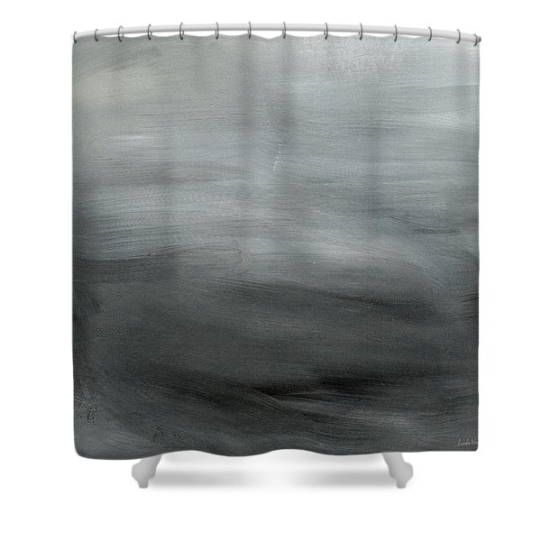Overcast Morning- Abstract Art By Linda Woods Shower Curtain