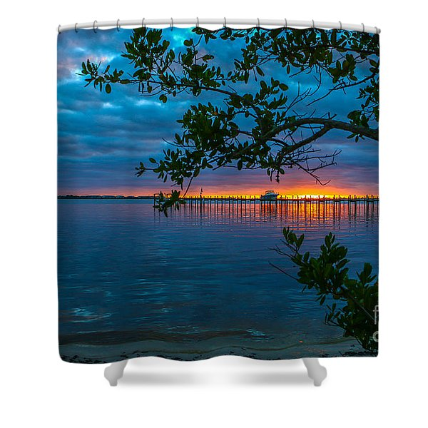 Shower Curtain featuring the photograph Overcast Sunrise by Tom Claud