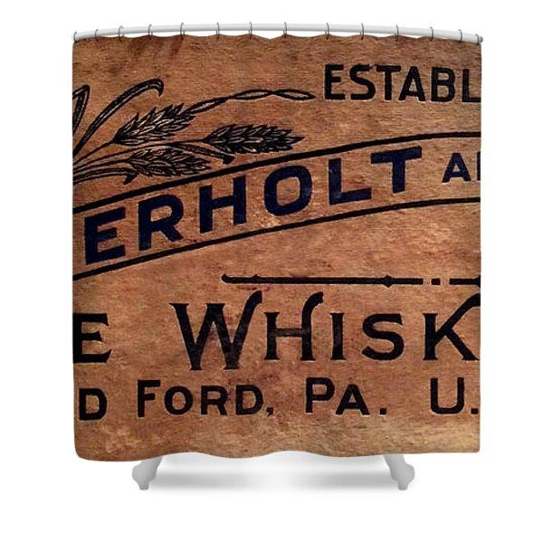 Overholt Rye Whiskey Sign Shower Curtain
