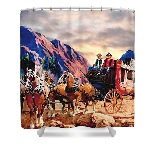 Overland Trail 2 Shower Curtain