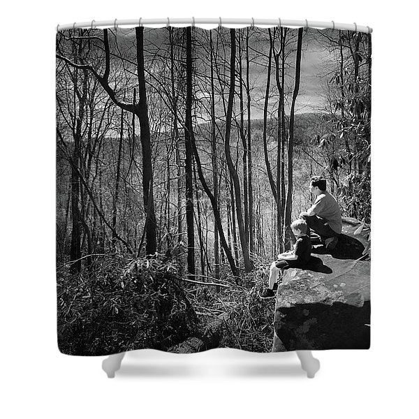 Overlook By Rainbow Falls Shower Curtain