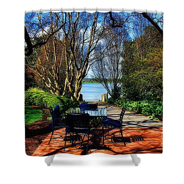 Overlook Cafe Shower Curtain