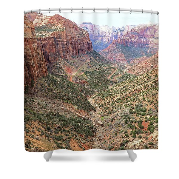 Overlook Canyon Shower Curtain