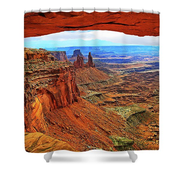 Overlooking Canyonlands National Park    Moab Utah Shower Curtain