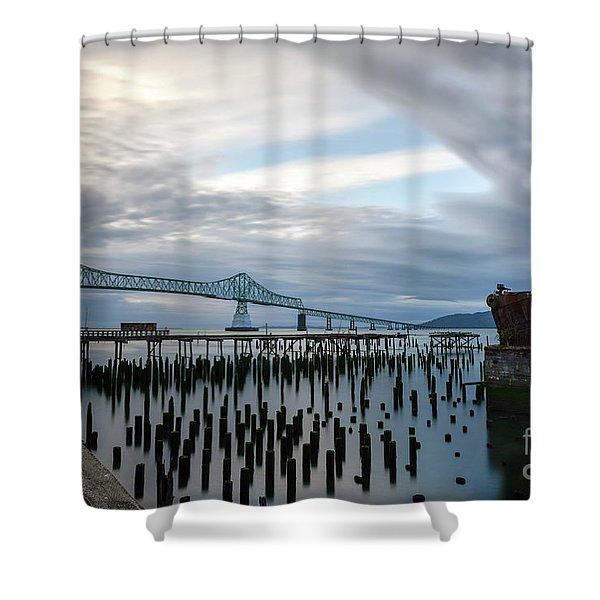 Overlooking The Bridge Shower Curtain