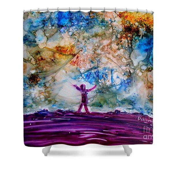 Overwhelmed Shower Curtain