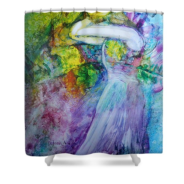 Shower Curtain featuring the painting Overwhelming Love by Deborah Nell