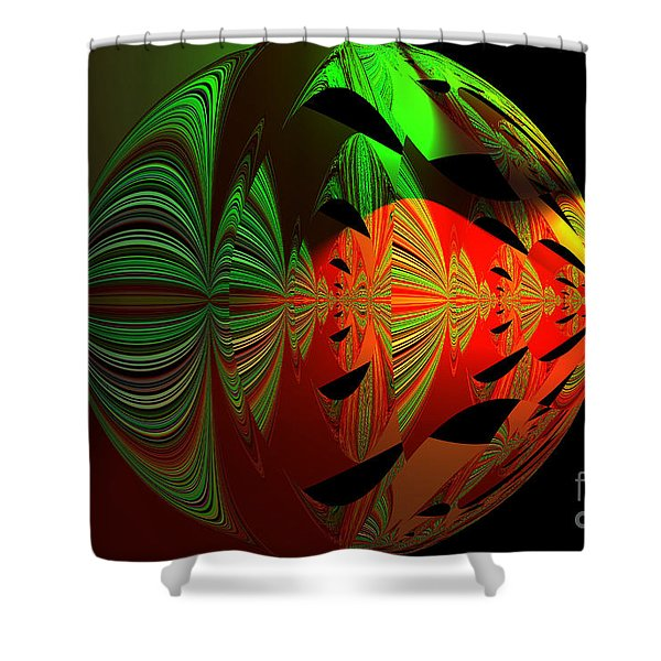 Art Green, Red, Black Shower Curtain