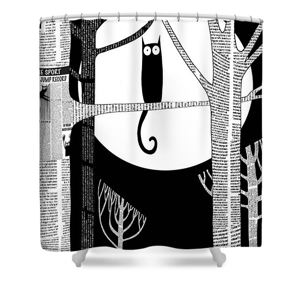 Owl Impression Shower Curtain