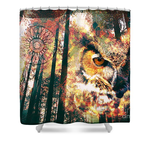 Owl Medicine 2015 Shower Curtain