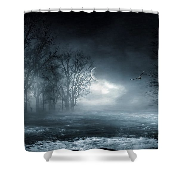 Owl Of Minerva Shower Curtain