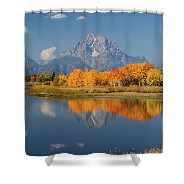 Oxbow Bend Reflection Shower Curtain