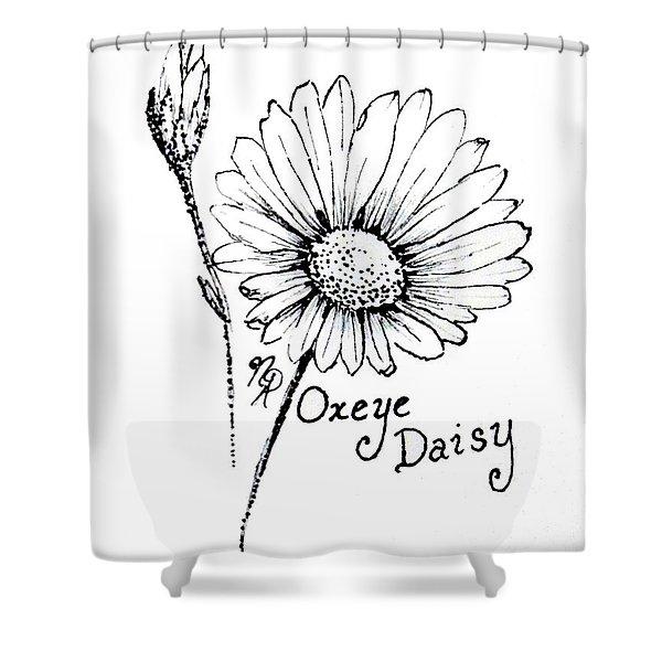 Oxeye Daisy Shower Curtain