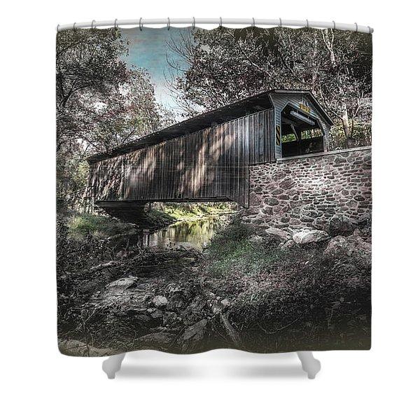 Oxford Covered Bridge Shower Curtain