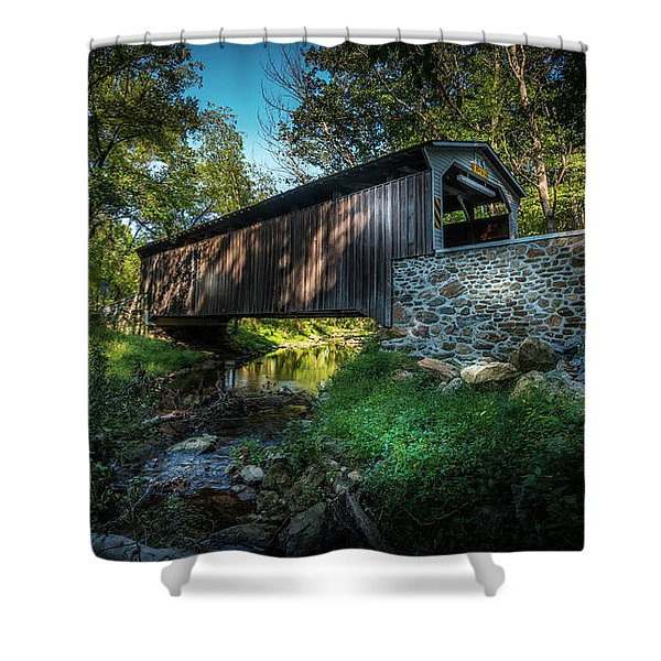 Oxford Pennsylvania Bridge Shower Curtain