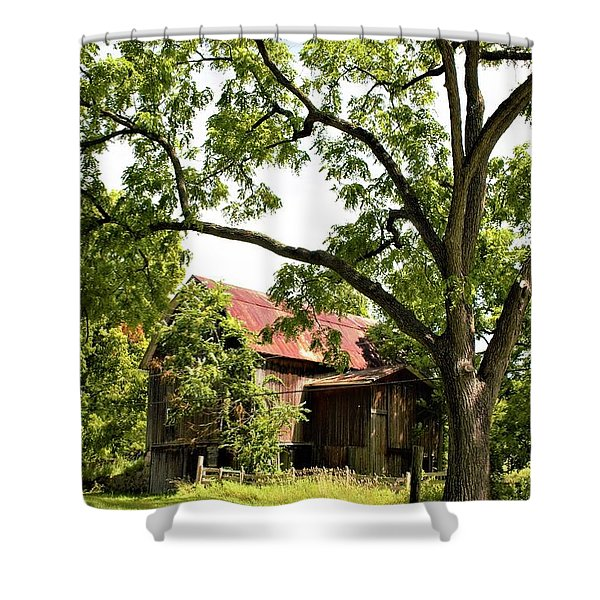 0037 - Oxford Red IIi Shower Curtain