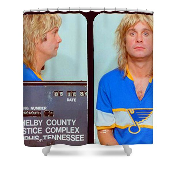 Ozzy Osbourne Mug Shot Color Horizontal Shower Curtain