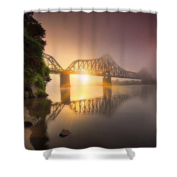 Railroad Bridge Shower Curtain