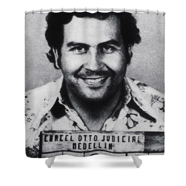 Pablo Escobar Mug Shot 1991 Vertical Shower Curtain