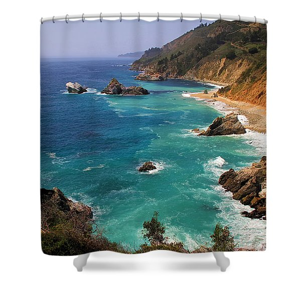 Pacific Coast Blues Shower Curtain