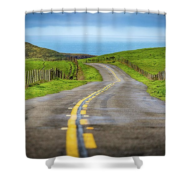 Pacific Coast Road To Tomales Bay Shower Curtain