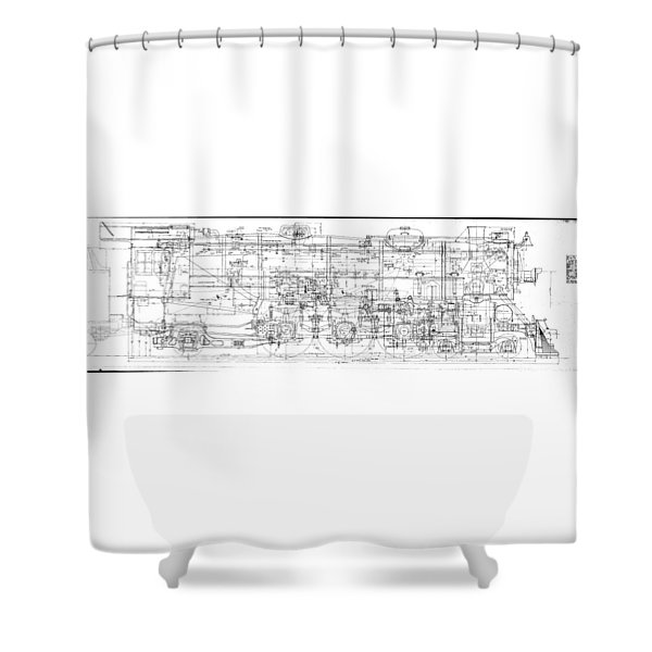 Pacific Locomotive Diagram Shower Curtain