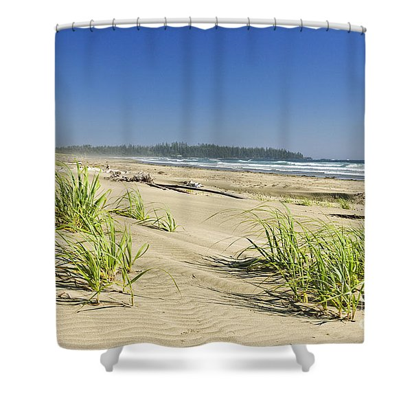 Pacific Ocean Shore On Vancouver Island Shower Curtain