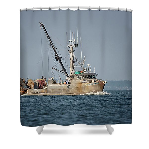 Pacific Viking Shower Curtain
