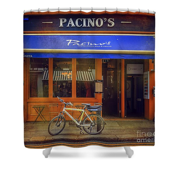 Pacino's Garda Bicycle Shower Curtain