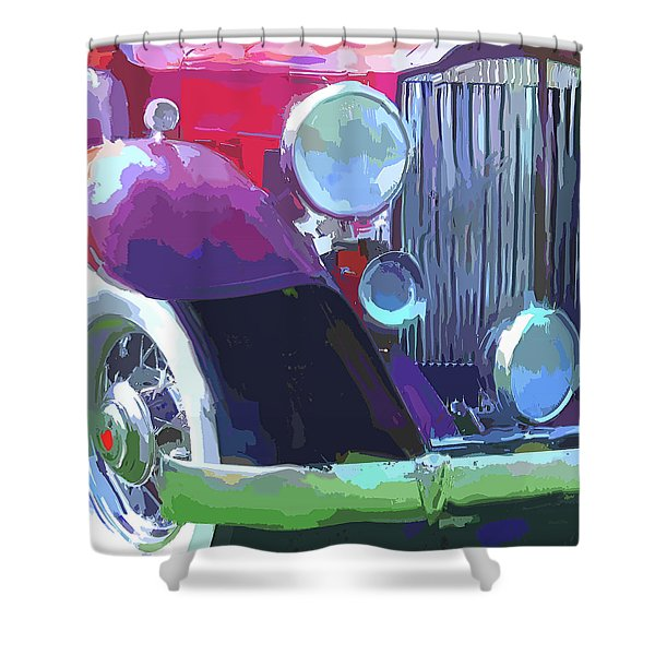 Packard Close Up Pop Shower Curtain