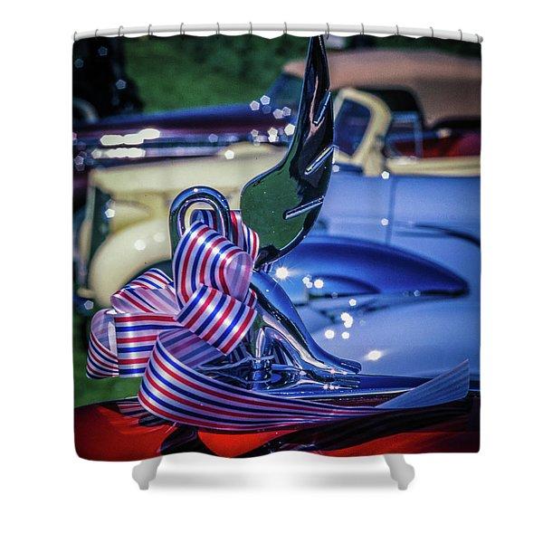 Packard Swan Shower Curtain