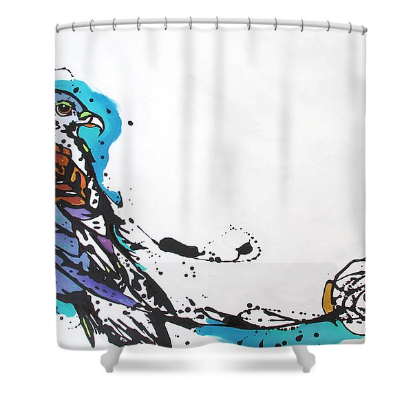 Packs A Punch Shower Curtain