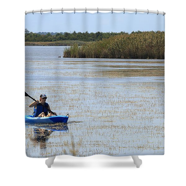 Paddle Away Shower Curtain