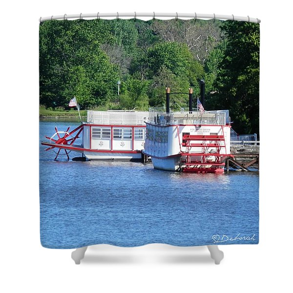 Paddleboat On The River Shower Curtain
